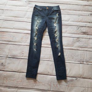 Almost Famous Mid Rise Jeggings Dark Rinse
